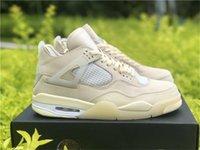 2020 Hot Off Authentic White 4 SP Wmns Vela Criado Homem Ao Ar Livre Sapatos Outdoor Muslin Branco Treinadores Black Sneakers com caixa original