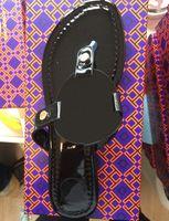 Hochwertige Frauen Flache Hausschuhe Luxus Designer Sandalen Leder Marke Mädchen Slide Sandals Casual Flip-Flops Größe 35-43 mit Box