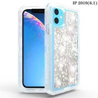 Denfender armour bright star quicksand iphone case For iPhone 13promax 12promax crystal 360 protect Phone Case robot shockproof For samsung with opp bag