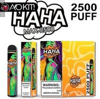 Аутентичные Haka Max Max одноразовые устройства сигареты 2500 слойки 8,5 мл предварительно заполненные подружки Vape Pods 1100 мАч Аккумуляторная батарея Bang XXL PLUS