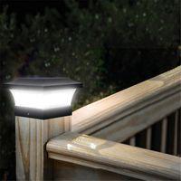 Gazon Lampen Zonne-kolom Koplamp LED Outdoor Verlichting Hek Poort Pijler Tuin Chinese stijl Decor Wandlamp Waterdichte binnenplaats Licht