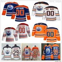 2021 Reverse Retro Edmonton oilers Wayne Gretzky Connor McDavid Leon Draisaitl Jesse Puljujarvi Adam Larsson 남성 여성 하키 유니폼