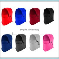 Caps Masks Protective Gear Sports & Outdoorswinter Outdoor Thermal Warm 6 In 1 Balaclava Hood Skiing Cap Fleece Bike Scarf Wind Stopper Ski