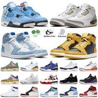 retro 1 1 s 4 4s off white KUTU İLE 2021 Basketbol Ayakkabıları Beyaz Oreo Üniversitesi Mavi Jumpman 1 1s Hiper Kraliyet Gölge TWIST Erkek Kadın Eğitmenler Spor ayakkabılar