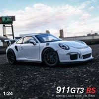 جديد 124 911 GT3 روبية زرقاء سيارة سبيكة سيارة نموذج محاكاة سيارة الديكور جمع هدية لعبة يموت الصب نموذج صبي لعبة