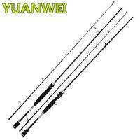 Spinning Baitcasting Fishing Rod 2 Sec 2.4m 6-14lb Power: M Carbon Lure Rods Vara De Pesca Carp Olta Stick Peche Boat