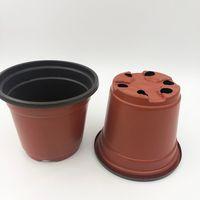 D9XH8CM Nursery Pots Double Color Plastic Calibre Corrosione Corrosione Resistente Fiore Posteriale Erba rotonda piantatore succulente all'ingrosso