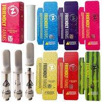 6 couleurs Fermes conviviales Vape Cartouches de Vape 0.8ml Atomatisant à bobines de céramique Ferme Emballage DAB Stylo Verre Épaisseur Chariots à huile E Cigarette 510 Fil Fil Vaporisateur de cire électronique
