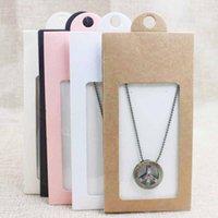 1 unids cartulina Paquete de joyería Pantalla de pantalla Caja de suspensión Caja de regalo Collar / Pendiente Joyería Embalaje Caja de suspensión