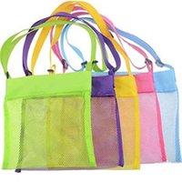 Kindertasche Strand Shell Spielzeug Mittagessen Schwimmen Taschen Für Reisen Kinder Sand Grabwerkzeug Lager Mesh Bag Farbe 8 Pack Rucksack Verkauf G53F0M7
