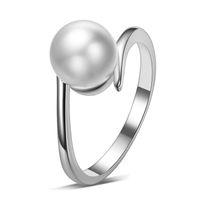 Продаем Shell Pearl 925 Стерлинговые Серебряные Дамы Пальца Собственные кольца Ювелирные Изделия Падение Женщин Кольцо Дешевый