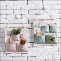 Boxes Bins Housekeeping Organization & Garden4 7 Pockets Wall Hanging Sundries Storage Bags Waterproof Bedroom Closet Underwear Socks Toy Ke