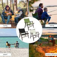 Outdoor tragbare faltbare Angelstühle abnehmbare Buche Leinwand Strand Wandern Picknicksitz Campinggeräte Ultraleichtes Zubehör