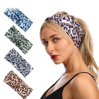 Yoga Leopard Hair Band Stretch Wide Head Bands Twist Turban Knot Sweatbands Elastic Hairwraps Headbands for Women