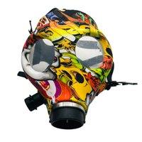Silicone Mash Creative Acrylic Smoking Pipe Gas Mask Bongs Plastic Oil Burner Water Smoke Hand Pipes