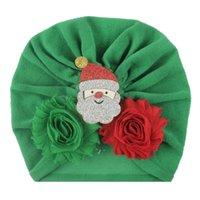 Noel Çocuk Şapka Pamuk Bezi Bebek Kap Çocuk Düğüm Türban Yürüyor Yumuşak Kafa Wrap Hindistan Tarzı Bebekler Düğüm Bantlar Fotoğrafçılık DWD11136