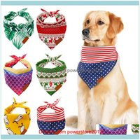 Collars Leashes Dog Supplies Home & Garden Pet Fashion Grooming Aessory Neck Ornament Jewelry Soft Collar Bandanas Puppy Cats Scarfs Bibs Dr