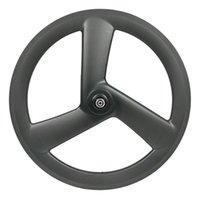 """Rodas de bicicleta 20 polegadas Freio de disco de carbono 3 raios 406 estrada 23mm largura tri falou dobrável bicicleta 20 """"wheelset"""