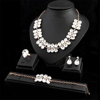 Earrings & Necklace Luxury Crystal Bridal Wedding Jewelry Set Elegant Bride Party Prom Costume Dress Accessories Gifts For Women