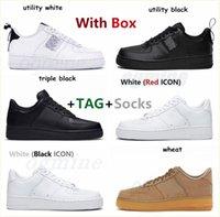Düşük Hava Kuvvetleri 1 Platform Ayakkabı Erkek Kadın Koşu Ayakkabı Kaykay Üçlü Siyah Beyaz Yardımcı Mens Eğitmenler Spor Sneakers Scarpe Chaussures # BQH0 #