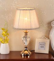 Lámparas de mesa ZISIZ Crystal LED Lámpara de la cama Lámpara de la noche Dormitorio / sala de estar / Libro de estudio Luz / Luces E27 EU / AU / EE. UU.