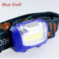 Battery Headlight COB Chip Adjustable Belt Head Light Outdoor Fishing Camping Hiking Riding Lamp High Low SOS Flashlights Tor Torches