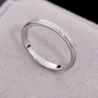 ring Stainless steel couple fashion frosted matte simple wedding jewelry female engagement party finger gift