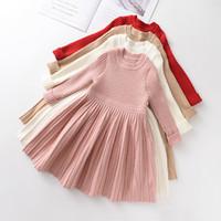 Медведь лидер с длинным рукавом свитер платье девушки принцесса ребенок девочка одежда сладкая пачка вечеринка платья рождество маленькая девочка одежда 1174 x2