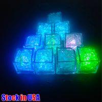 Dauerhafter und vielseitiger Eis Lichter Eimer LED Cubes Glühende Party Ball Flash Licht Leuchtendes Neon W Festival Weihnachtsbar Weinglas Dekoration liefert USA