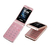 Luxury Double Screen Display Flip Mobile Phone 2G Dual Sim Card GSM Unlock Easy Work Senior Speed Dial Big Key Large Volume SOS Button Flashlight