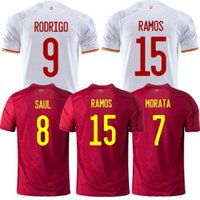 2021 Top Thai Quality Asensio Morata Espana Isco Soccer Jerseys Coppa del Mondo Ramos Iniesta Camicia da calcio Camisa Maillot de Piede