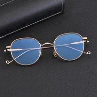 Design del marchio coreano retrò occhiali rotondi telaio titanio occhiali ultra-leggeri fatti a mano prescrizione ottica occhiali da sole occhiali da sole