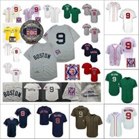 TED Williams Jersey Vintage 1939 Creme grau Weiß Cooperstown Hall of Fame Patch 2021 City Connect Player Navy Rot Grüne Größe S-3XL