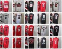 Clyde 22 Drexler Jersey Carmelo 00 Anthony Basketball Jerseys Mens Damian 0 Lillard CJ 3 McCollum City Shirt