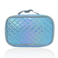 Lazer Makyaj Saklama Torbaları Taşınabilir PU Rhomboid Makyaj Çantası Bayanlar Kozmetik Seyahat Organizatör GGA4650