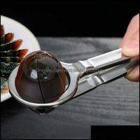 Cuisine, barre à manger Home Garde Coupeur en acier inoxydable Trancheur d'acier en acier inoxydable Pratique Egs à bouillies Coupe Tool d'œufs Durable Outils de cuisine Gadget