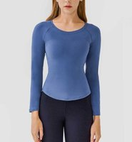 Slim Fit Yoga Tops Gym Clothes Naked Feel Casual Fashion Sports Running Fitness Shirt Workout Athletic Tight Blouses