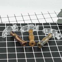 4.6 '' Glasshukas Bong Wasserleitungen Rauchen Silikon Handleitung Wachs Öl Rigs Mini Hammerform