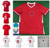 2021 22 Euro Cup Polska Soccer Jersey Home 20 21 Camiseta Futbol Maillot Vermelho Branco Milik Pol Lewandowski Piszczek Jerseys Futebol Shirts Uniformes
