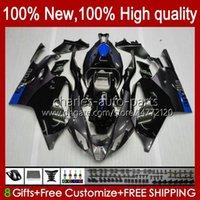 Moto Fairings For Aprilia RSV1000R Mille RV60 RSV-1000 RSV1000 R RR 04 05 06 Bodywork 11No.132 RSV1000RR RSV 1000 R 1000R 1000RR 2004 2005 2006 Bodys Kit blue grey stock