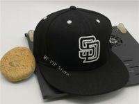 Wholesale Высокое Качество Мужская Сан-Диего Спортивная Команда Поддоны Клабки на полевые Шляпы Полный Закрытый Дизайн Размер 7- Размер 8 Установленные бейсбол Gorra
