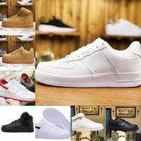 Commercio all'ingrosso 2021 Nuovi designer uomini all'aperto scarpe da skateboard a basso costo un unisex 1 knit euro airs high donne tutte bianche scarpe sportive nero V61