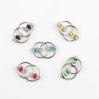 Bike Chain Toy Key Ring Fidget Spinner Hand Metal Finger Bicycle Buckle Toys Reduce Decompression Relief Anxiety Anti Stress For Adult Student DHL