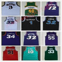 Retro Basketball Jerseys Carter McGrady Penny Hakem Stockton 32 Karl Malone 33 Colina Ason West Allen 3 Iverson Mike Bibby Kevin Garnett Jersey