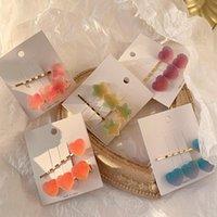 Einfache weiche süßigkeiten haarnadel mädchen nette wort clip kinder jelly barrette femalecandy farbe liu measide haarschmuck