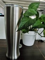 30Oz Stainless Steel Pilsner Beer Glass Tumblers Coffee beer Mug Office Home Creative Vase Cup With Lids Keep cold can custom