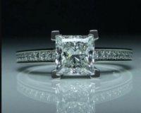 Size 4-11 Princess cut Free 1ct Topaz Luxury Jewelry Simulated Diamond Gemstones Wedding Engagement Band Finger Rings lz1237