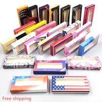 20styles Carton Paper Packing Box for 25mm EyeLash Wholesale Bulk Pretty Lashes Storage Packaging 1000pcs DHL free