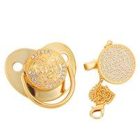 Blingonly Unique Soothie Luxury Gold Marca de ouro chupeta para bebês 210407