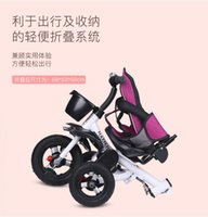 Childrens Tricycle Folding Reclinable 1-3-6 Years Old Childrens Bicycle Baby Stroller Baby Bicycle Bicycle